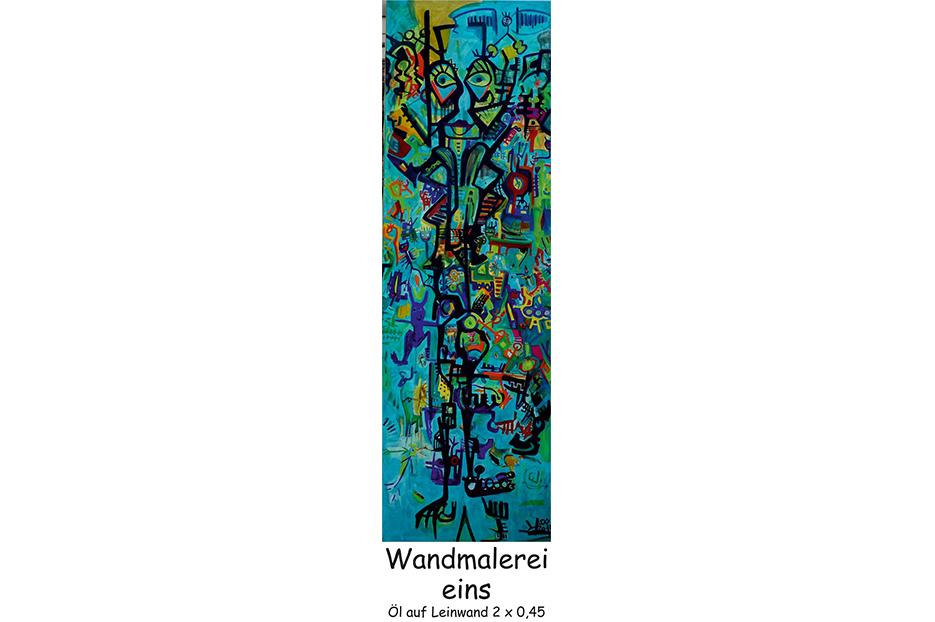 Wandmalerei-eins
